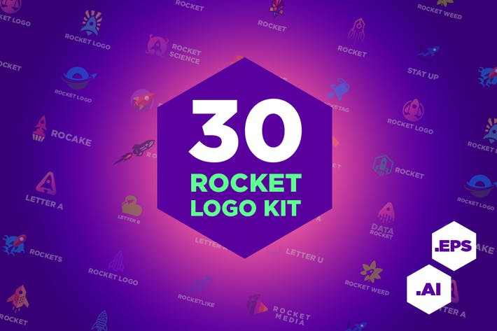 Thumbnail for 30 Rocket Logo Kit