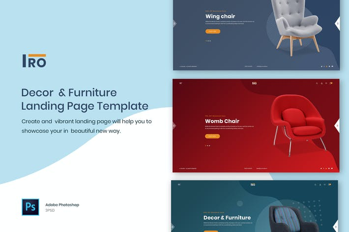Thumbnail for IRO - Decor & Furniture Landing Page Template