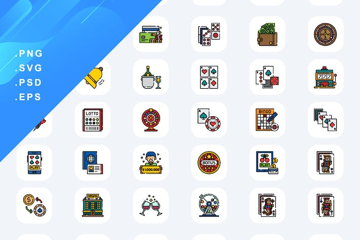 50 Gambling And Betting Services Icons