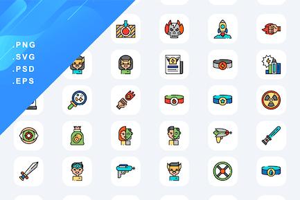 50 Superhero Icons