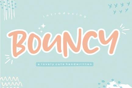 Bouncy Display Font YH