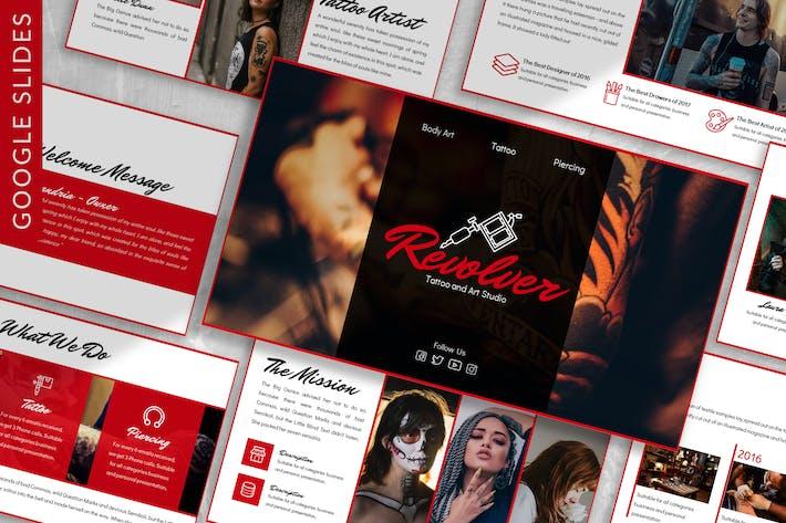 Thumbnail for Revolver - Art Business Google Slide Template