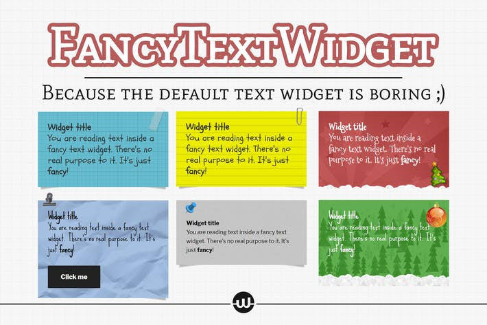 Thumbnail for Fancy Text Widget - The Fun Widget Your Site Needs