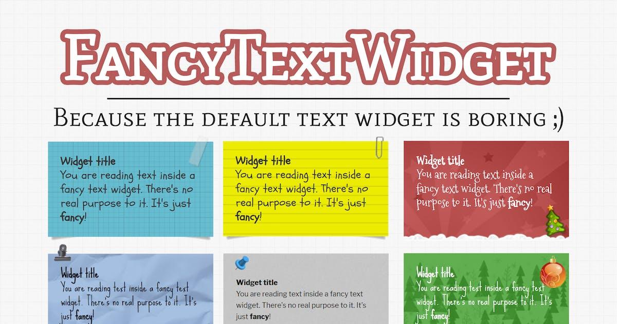 Download Fancy Text Widget - The Fun Widget Your Site Needs by WebFactory