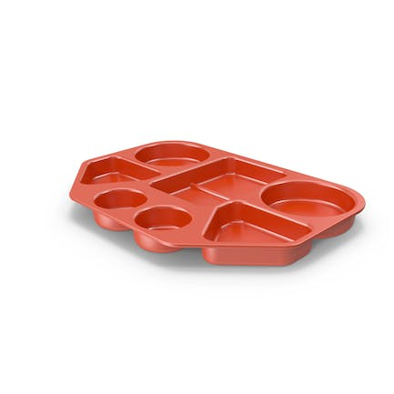 Lunch Food Tray Red