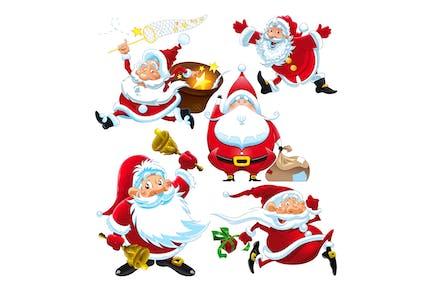 Set von Santa Claus