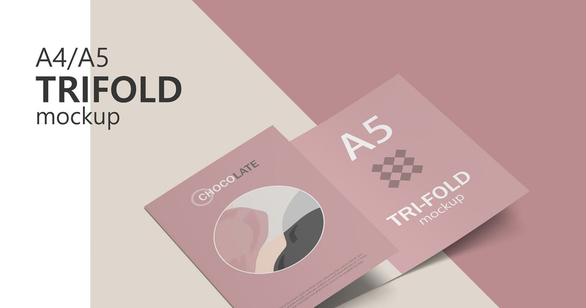 Download A4 / A5 Trifold Brochure Mockup by GraphicMonday