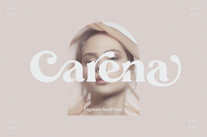 Carena - Ligadura Con serifa Fuente