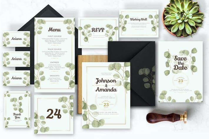 Thumbnail for Watercolor Eucalyptus - Wedding Invitation