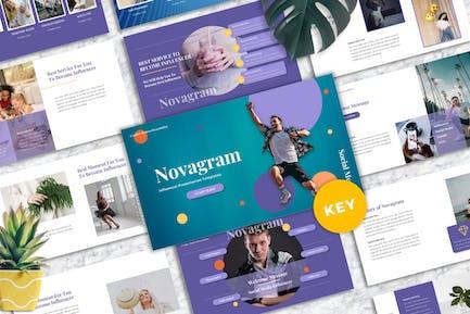 Novagram - Influencer Keynote Templates