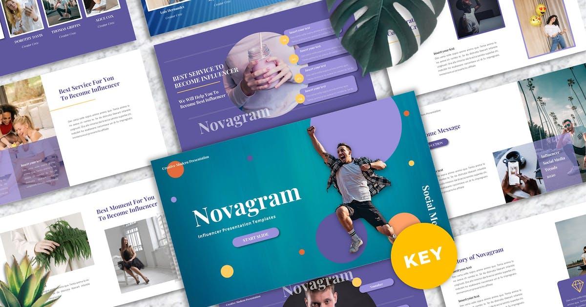 Download Novagram - Influencer Keynote Templates by Yumnacreative