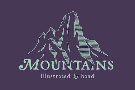 Hand Illustrated Mountains