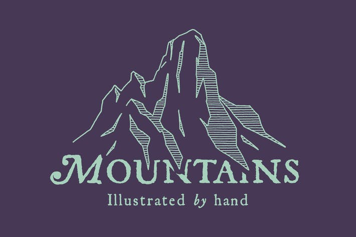 Thumbnail for Hand Illustrated Mountains