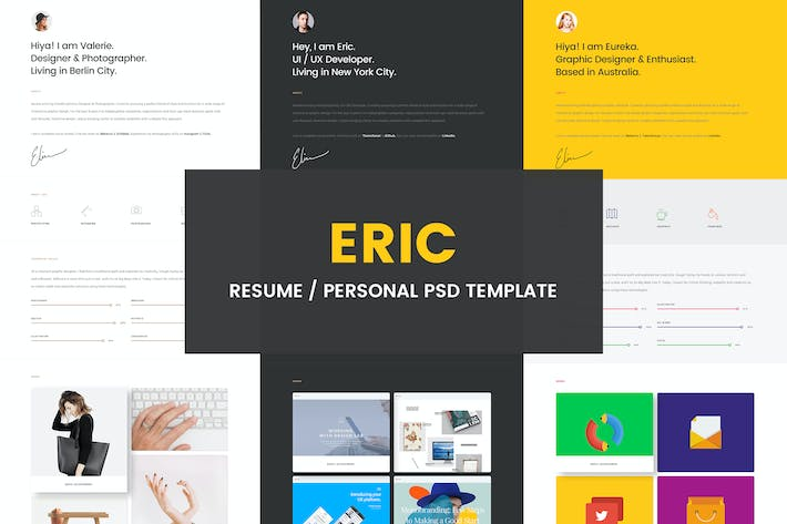 Thumbnail for Eric - Resume PSD Template