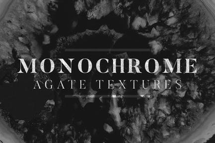 Monochrome Agate Textures
