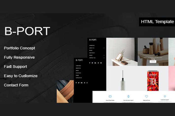Thumbnail for B-Port - Portfolio HTML Template
