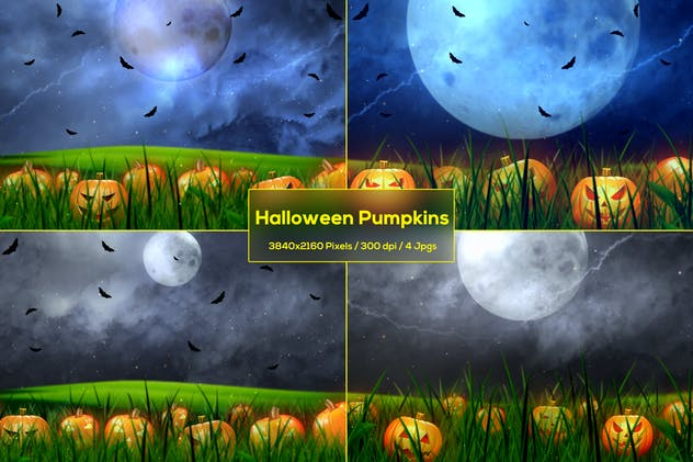Halloween Pumpkins Backgrounds