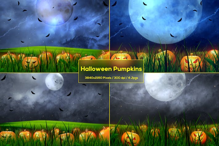 Thumbnail for Halloween Pumpkins Backgrounds