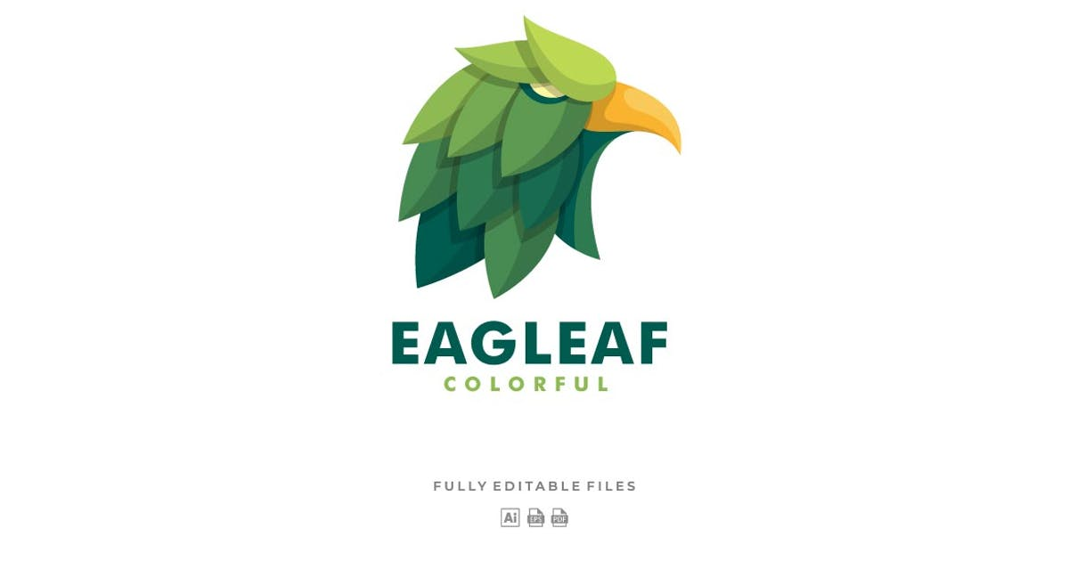 Download Eagle with Leaves Colorful Logo by ivan_artnivora