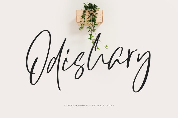 Thumbnail for Odishary - Handwritten Font