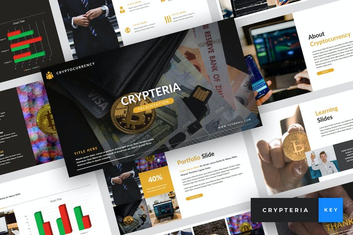 Thumbnail for Crypteria - Criptocurrency Keynote Template