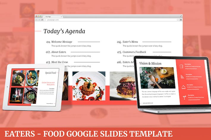 Thumbnail for Eaters - Food Google Slides Template