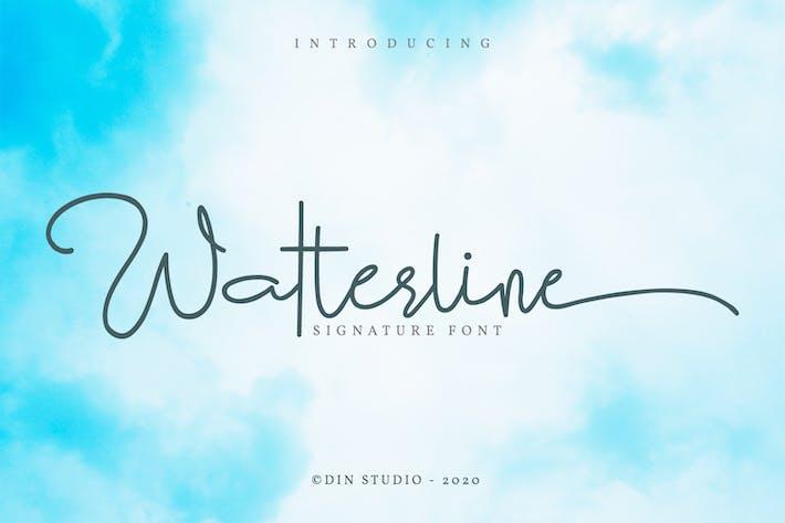 Thumbnail for Watterline-Elegant Signature Font