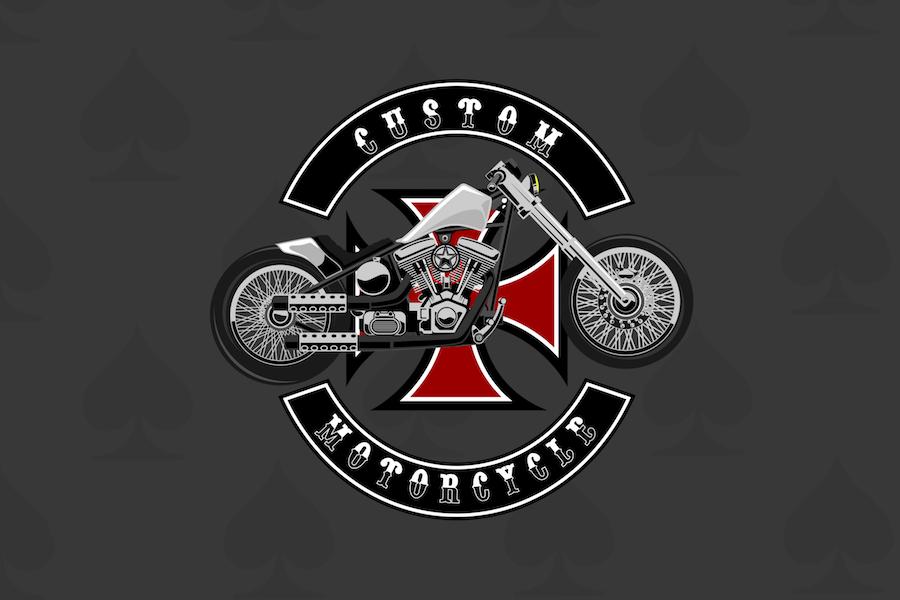 Custom Bike - Vector Illustration