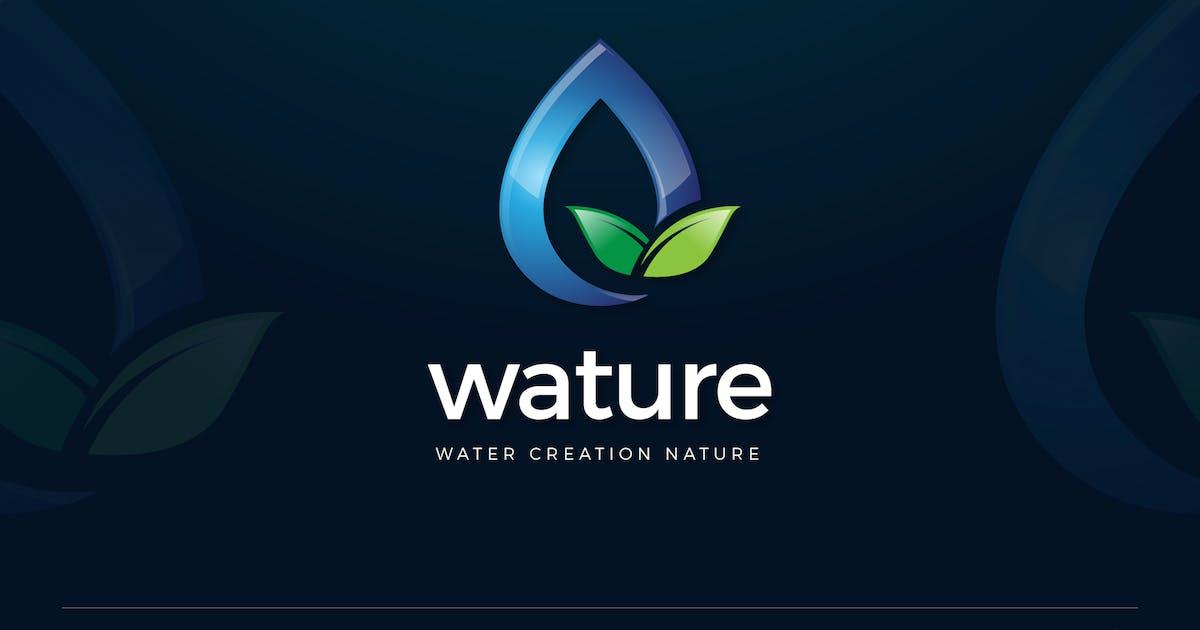 Download Water Drop Nature Leaves Logo Template by SlideWerk