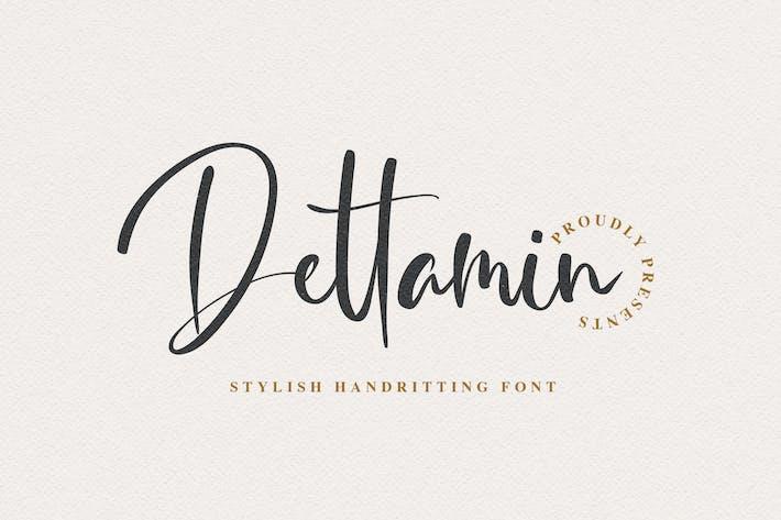 Thumbnail for Dettamin - Stylish Handwriting Font