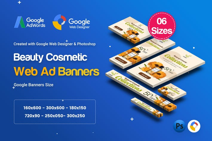 Thumbnail for C18 - Cosmetic Banners HTML5 - GWD & PSD