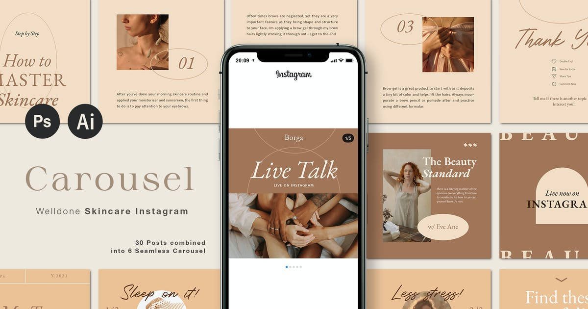 Download WELLDONE Instagram Carousel by blancalab