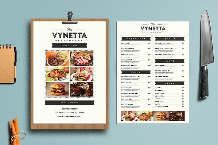 Thumbnail for Простой ресторанный пакет меню