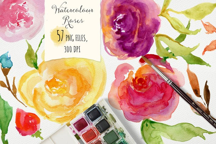 Thumbnail for Watercolor Roses