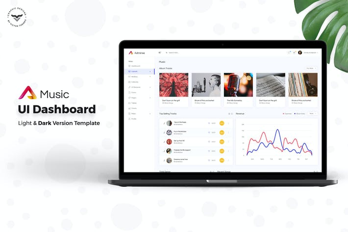 Thumbnail for Music Admin Dashboard UI Kit