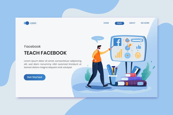 Thumbnail for Teach Facebook Ads  Marketing Landing Page