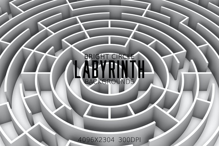 Thumbnail for Bright Circle Labyrinth Backgrounds
