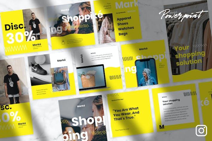 Thumbnail for Марке - Instagram Kit Powerpoint Шаблон