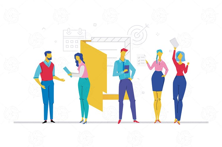 Thumbnail for Business meeting - flat design style illustration