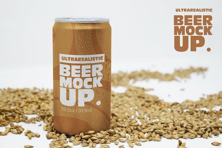 Thumbnail for 10oz Front Malt Beer Can Mockup