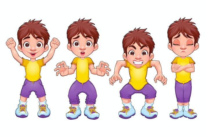 Thumbnail for Четыре позы ребенка, в разных выражениях