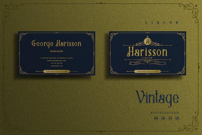 Thumbnail for Vintage Elegant Theme - Liquor Businesscard
