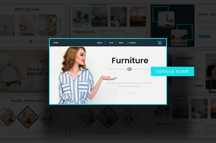 Thumbnail for Furniture  - Google Slides Template