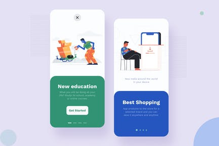Walkthrough Mobile Interface Illustrations