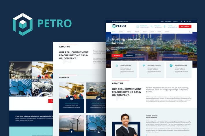 Thumbnail for Petro - Industrial HTML Template