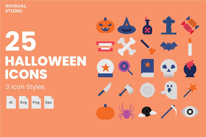 Thumbnail for Halloween - Icon Set