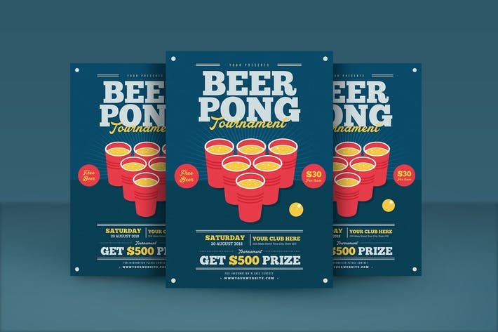 Beer Pong Flyer By Guuver On Envato Elements