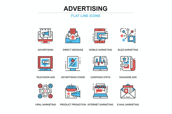 Thumbnail for Набор промо и рекламных Иконки для тонких линий