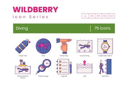 75 Íconos de buceo | Wildberry Series