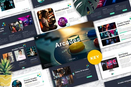 Arcades -  Arcade Games Keynote Template